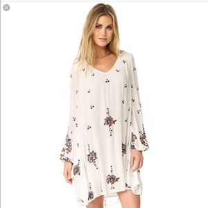 Free People Embroidered Oxford Shift Dress Large